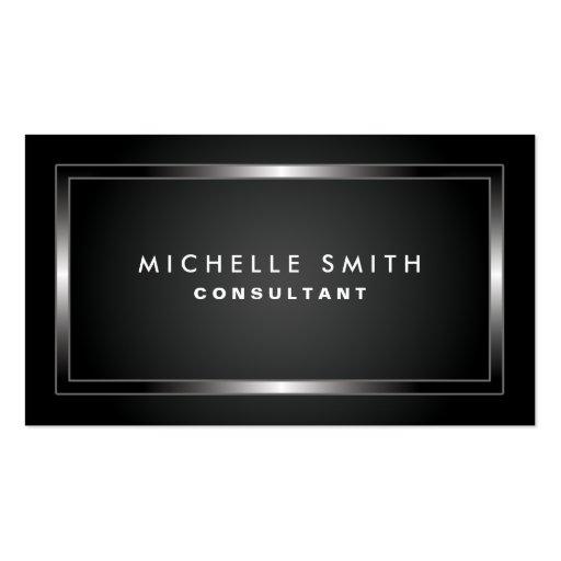 Fashion Designer Professional Elegant Black Plain Business Card Templates