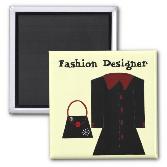 Fashion Designer Square Magnet