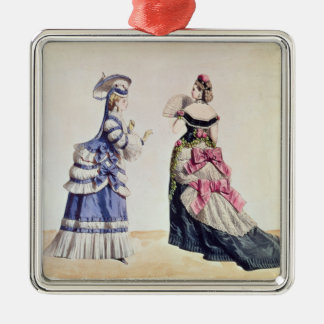 Fashion designs for women from the 1860's christmas ornament