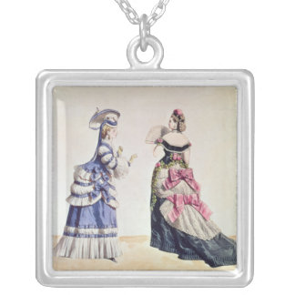 Fashion designs for women from the 1860's silver plated necklace