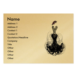 Fashion Diva - Customized Pack Of Chubby Business Cards