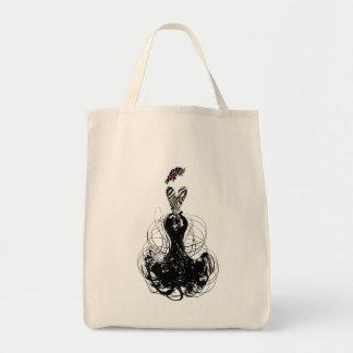 Fashion Diva Swirled Grocery Tote Bag