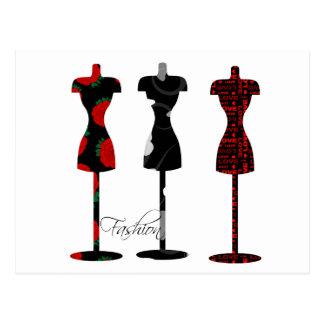 Fashion Dress Forms Postcard