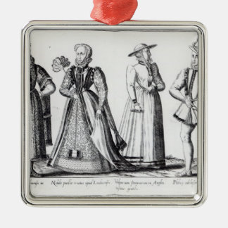 Fashion during the Tudor Period Christmas Ornament