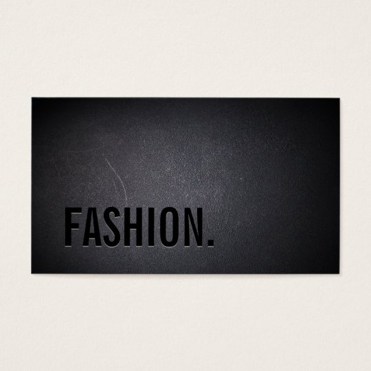 Fashion Elegant Dark Bold Text Minimalist Business Card