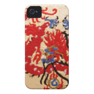 Fashion Fabric - Native Embroidery on Satin Silk Blackberry Bold Case