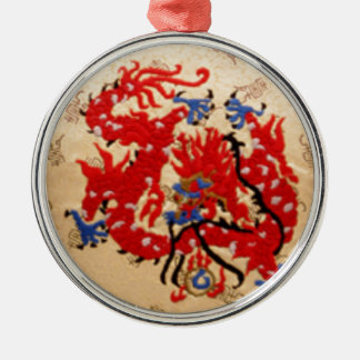 Fashion Fabric - Native Embroidery on Satin Silk Christmas Ornaments