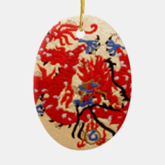 Fashion Fabric - Native Embroidery on Satin Silk Christmas Ornament