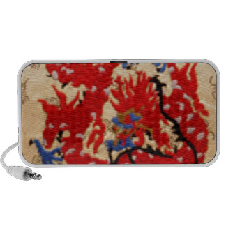 Fashion Fabric - Native Embroidery on Satin Silk Travelling Speaker