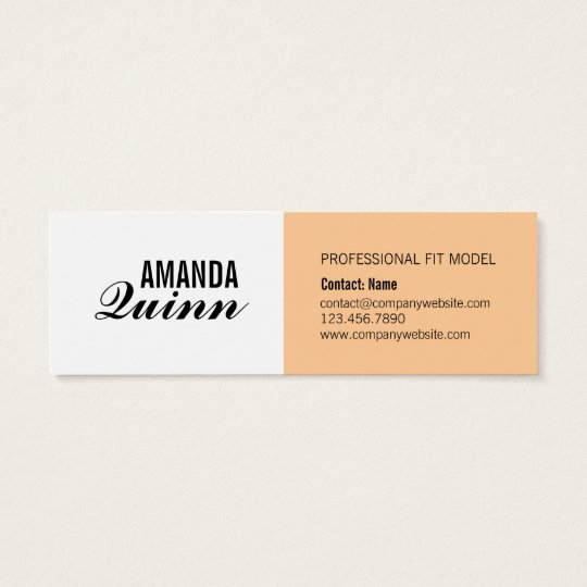 Fashion Fit Model Business Card Template