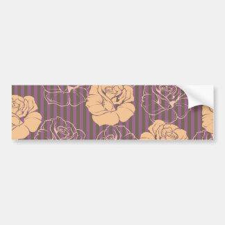 Fashion floral rose pattern bumper sticker