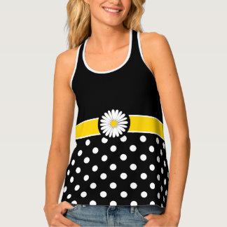 Fashion Flower Polka Dot Tank Top