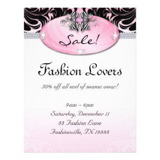 Fashion Flyer Hair Salon Jewelry Zebra Bow Pink