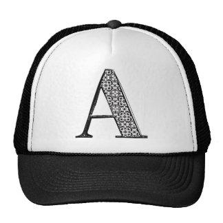 Fashion font, Letter A Mesh Hats