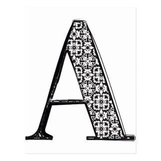 Fashion font, Letter A Postcard