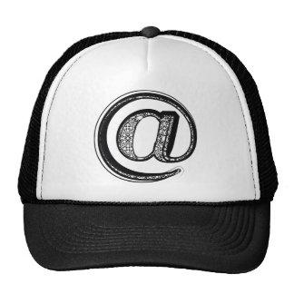 Fashion font, symbol @ cap