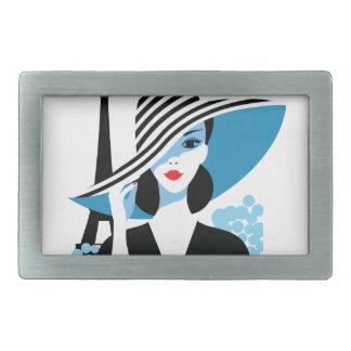 Fashion french stylish fashion chic illustration rectangular belt buckle