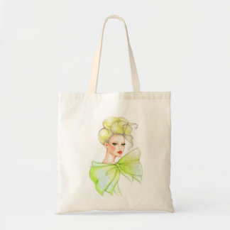 Fashion girl drawing bag