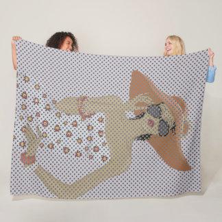 Fashion girl Fleece Blanket, Large