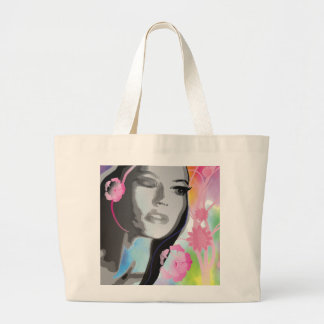 Fashion Girl Illustration Watercolor Hippie Bag