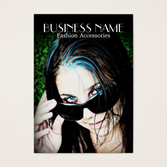 Fashion Girl in Sunglasses Business Card