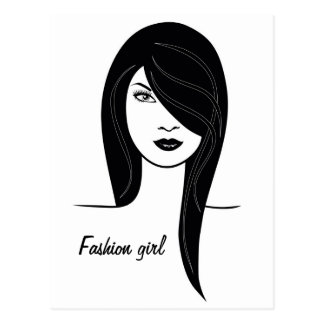 'Fashion girl' postcard