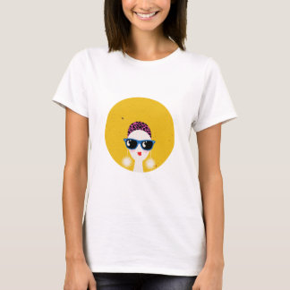 fashion girl wearing sunglasses T-Shirt