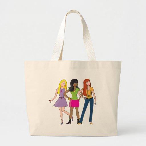fashion girls canvas bags