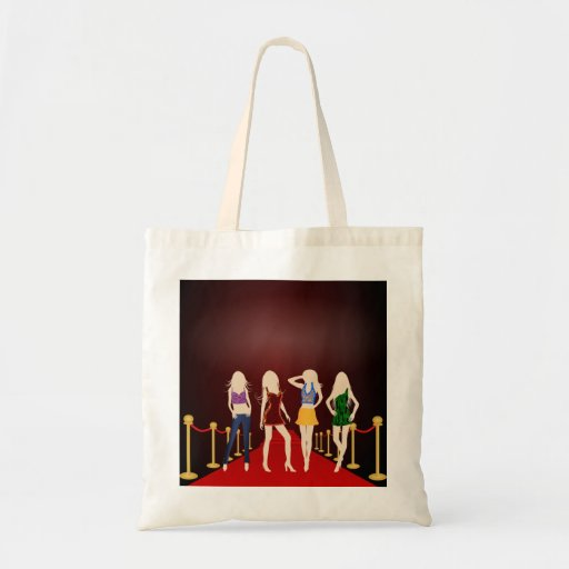 Fashion Girls on the Red Carpet Budget Tote Bags Canvas Bags