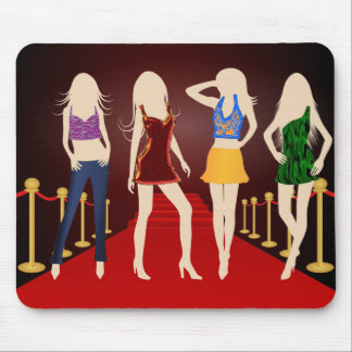 Fashion Girls on the Red Carpet Mousepad Mousepad