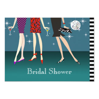Fashion Girls Party Bridal Shower 13 Cm X 18 Cm Invitation Card