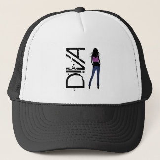 Fashion Girls Posing Model Diva Blue Jeans Hat