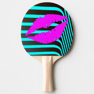 Fashion glamour trendy girly beauty kiss lips ping pong paddle