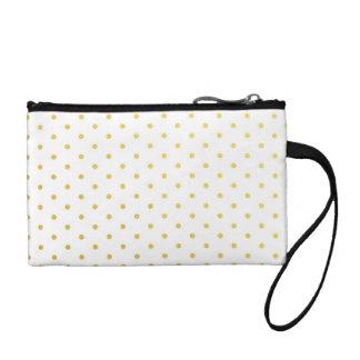 Fashion gold polka dots change purses