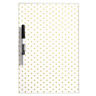 Fashion gold polka dots dry erase board