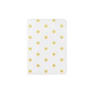 Fashion gold polka dots passport holder