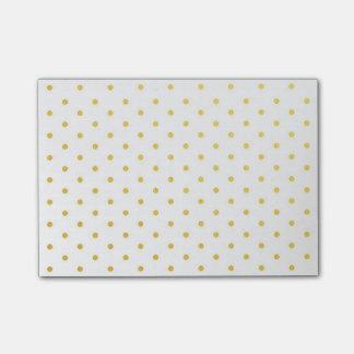 Fashion gold polka dots post-it notes