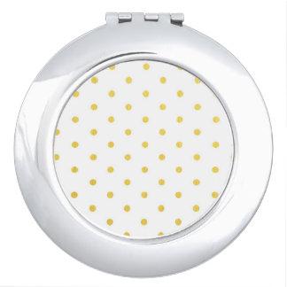 Fashion gold polka dots vanity mirrors