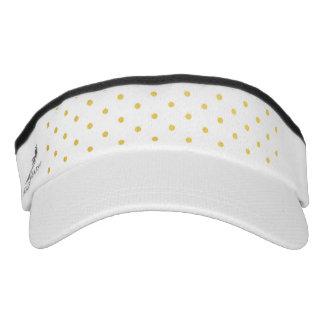 Fashion gold polka dots visor