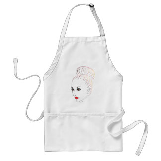Fashion Hairstyles Lineart 6 Standard Apron