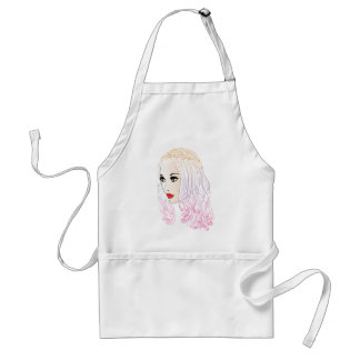 Fashion Hairstyles Lineart Standard Apron