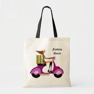 Fashion Handbag Scooter Woman Leopard Pink