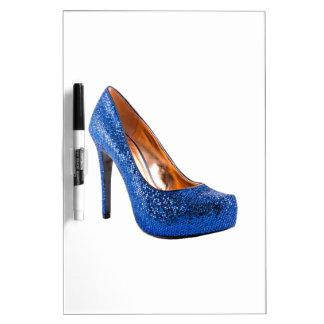 Fashion High Heel Shoe Blue add Text Dry Erase Whiteboard