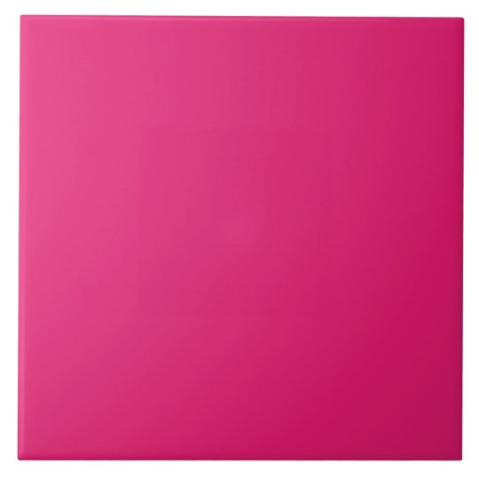 Fashion Hot Pink Personalised Colour Background Tile
