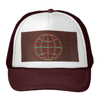 FASHION Hut : CHOCOLATE Brown WORLD Globe Hat Gift