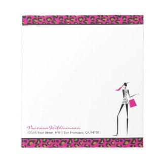 "Fashion Icon CUSTOM Notepad (5.5"" x 6"" - 40 pages)"