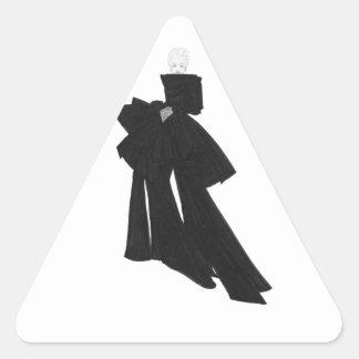 Fashion Illustration Black Bow Triangle Stickers