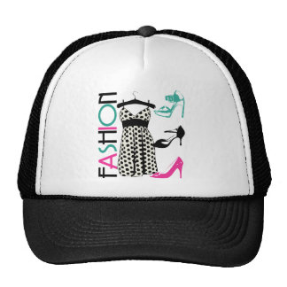 Fashion in Black and White Dots Mesh Hat