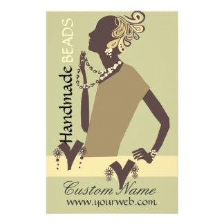 Fashion Jewel Model Modern Woman Bead 14 Cm X 21.5 Cm Flyer
