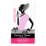 Fashion Jewellery Model Figure Pink Dress Pack Of Standard Business Cards